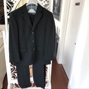 Oscar de la Renta Mens Suit Black 43R W35